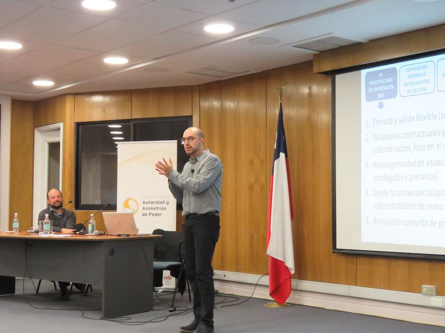 Centro Núcleo Milenio Autoridad y Asimetrías de Poder realizó taller con dirigentes sindicales en la Facultad de Psicología UDP